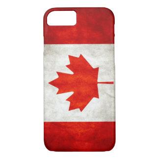 Caso canadense do iPhone 7 da bandeira do vintage Capa iPhone 7