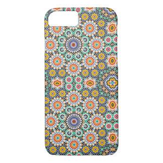 Caso cerâmico marroquino do teste padrão para o capa iPhone 7
