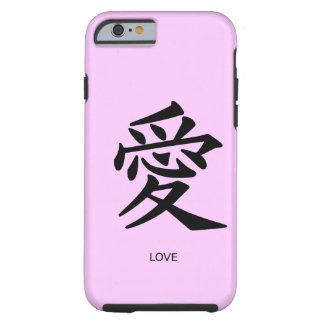 Caso chinês do iPhone 6 do amor do símbolo Capa Tough Para iPhone 6