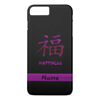 Caso chinês do iPhone 7 do Kanji da felicidade do Capa iPhone 7 Plus