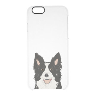 Caso claro de border collie - capas de iphone do