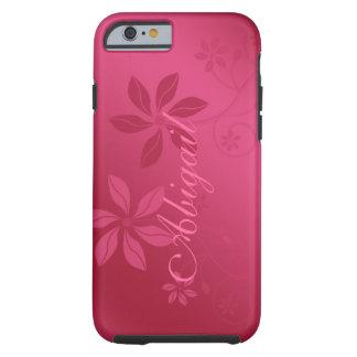 Caso conhecido feito sob encomenda floral do capa tough para iPhone 6