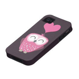 Caso cor-de-rosa bonito do coração iPhone4 da coru Capas Para iPhone 4/4S