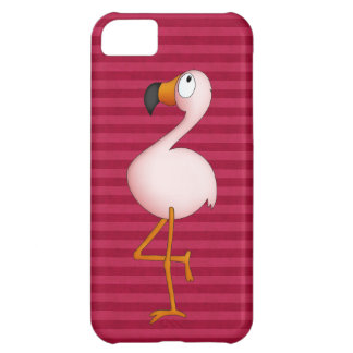 Caso cor-de-rosa bonito do iPhone 5 do flamingo Capa Para iPhone 5C