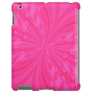 CASO cor-de-rosa brilhante do iPAD da borboleta Capa Para iPad
