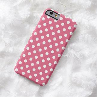 Caso cor-de-rosa do iPhone 6 das bolinhas da Capa Barely There Para iPhone 6