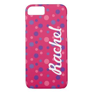 Caso cor-de-rosa do iPhone 7 das bolinhas Capa iPhone 7