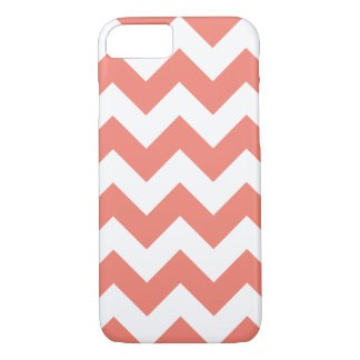 Caso coral do iPhone 7 do ziguezague de Chevron Capa iPhone 8/ 7