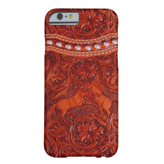 caso de couro ocidental do iPhone 6 do mustang Capa Barely There Para iPhone 6