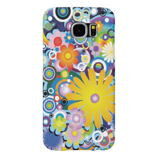 Caso de flower power capas samsung galaxy s6