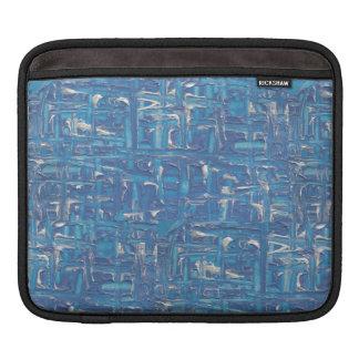 Caso de Ipad - pintura abstrata do azul por Erika Sleeve Para iPad