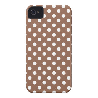 Caso de Iphone 4/4S das bolinhas de Brown de Capa Para iPhone
