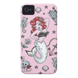 Caso de Iphone 4/4S do rosa da sereia de Molly do Capa Para iPhone 4 Case-Mate