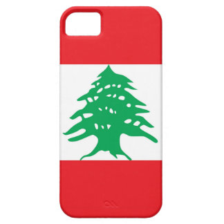 Caso de IPhone 5 com a bandeira de Líbano Capa Barely There Para iPhone 5