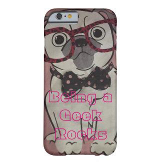 Caso de IPhone 6 do cão do geek Capa Barely There Para iPhone 6