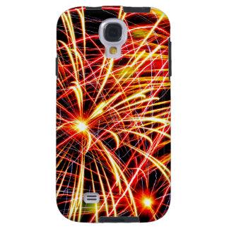 Caso de Iphone/Ipad com os fogos-de-artifício Capa Para Galaxy S4