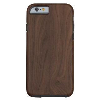caso de madeira do iPhone 6 da grão do falso Capa Tough Para iPhone 6