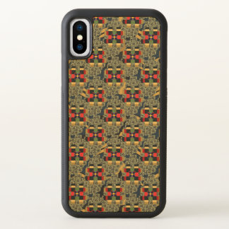 Caso de madeira do iPhone X do bordo abundante