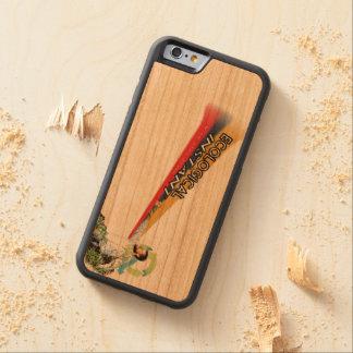 Caso de madeira imediato ecológico capa de cereja bumper para iPhone 6