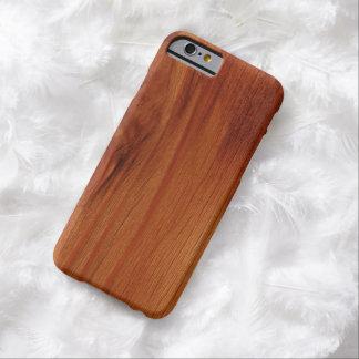 Caso de madeira lustrado do iPhone 6 do teste Capa Barely There Para iPhone 6