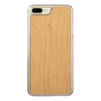 caso de madeira positivo do iPhone 7 Capa iPhone 7 Plus Carved
