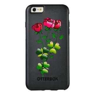 Caso de Otterbox com ilustração dos rosas