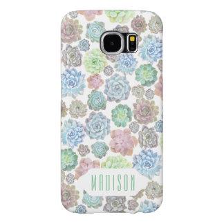 Caso do costume dos Succulents Capas Samsung Galaxy S6
