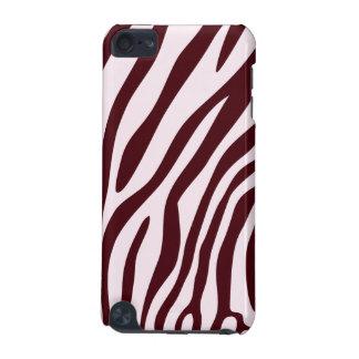 Caso do impressão da zebra, vermelho capa para iPod touch 5G