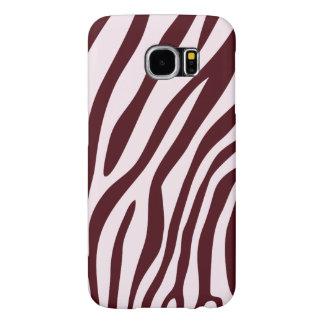 Caso do impressão da zebra, vermelho capa para samsung galaxy s6