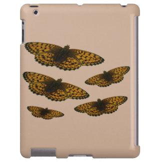 Caso do iPad da borboleta de Brown do campo Capa Para iPad