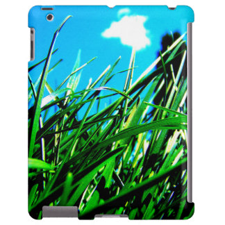 Caso do iPad da grama verde Capa Para iPad