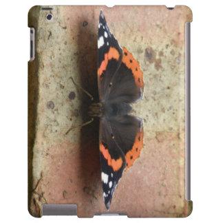 Caso do iPad do almirante vermelho borboleta Capa Para iPad