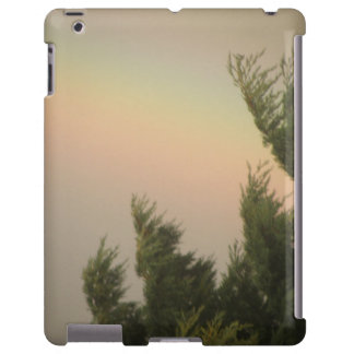 Caso do iPad do arco-íris e das árvores Capa Para iPad