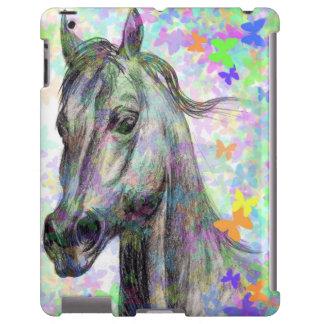 caso do iPad do cavalo da borboleta Capa Para iPad