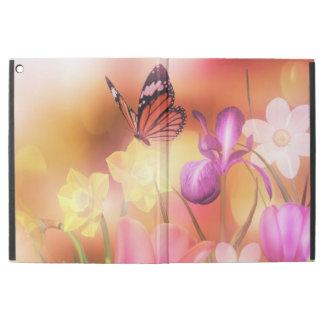 Caso do iPad do jardim da fantasia da borboleta