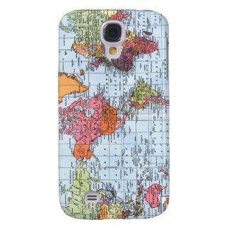 Caso do iPhone 3G do mapa do mundo Capas Samsung Galaxy S4