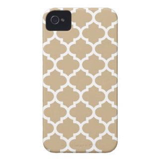Caso do iPhone 4/4S de Quatrefoil na areia Brown Capa Para iPhone