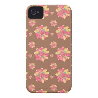 Caso do iPhone 4/4s do azulejo da explosão da flor Capas Para iPhone 4 Case-Mate