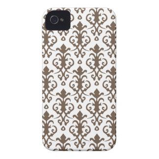 Caso do iPhone 4/4S do damasco de Brown do licor Capinha iPhone 4