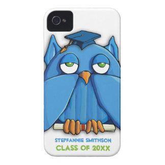 Caso do iPhone 4/4S do formando da coruja do Aqua Capa Para iPhone 4 Case-Mate