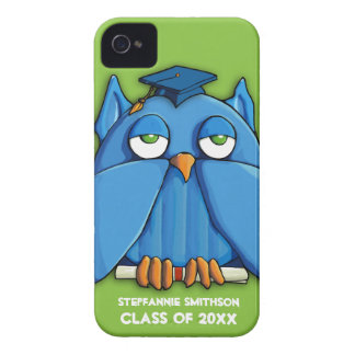Caso do iPhone 4/4S do formando do verde da coruja Capa Para iPhone