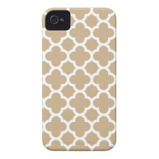 Caso do iPhone 4S de Quatrefoil na areia Brown Capa Para iPhone 4 Case-Mate