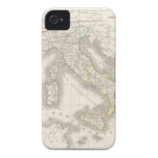 Caso do iPhone 4S do mapa de Italia do Velho Mundo Capas Para iPhone 4 Case-Mate