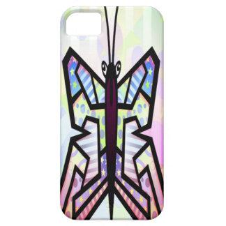 Caso do iPhone 5 da borboleta da arte abstracta Capa Para iPhone 5