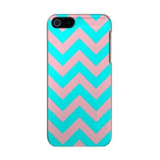 Caso do iPhone 5 de Chevron do rosa e do Aqua Capa Incipio Feather® Shine Para iPhone 5