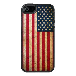 Caso do iPhone 5 de OtterBox da bandeira americana