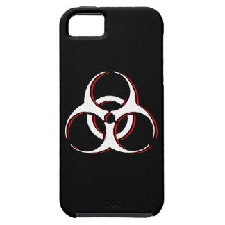 Caso do iPhone 5 do Biohazard - desosse a cinza do Capa Tough Para iPhone 5