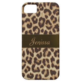 Caso do iPhone 5 do impressão do leopardo Capa Barely There Para iPhone 5