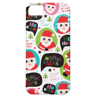 Caso do iphone 5 do Natal do papai noel Capas Para iPhone 5
