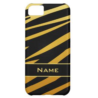 Caso do iPhone 5 do ouro do preto do impressão do Capa Para iPhone 5C